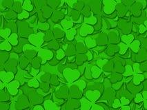 De gelukkige St Patrick Achtergrond van de Bladeren van de Klaver van de Dag Stock Fotografie