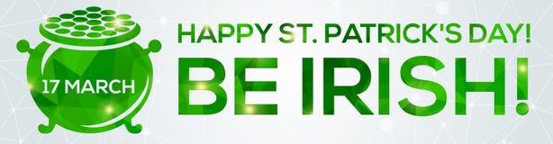 De gelukkige St Patrick kaart van de Daggroet Royalty-vrije Stock Fotografie
