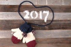 De gelukkige stemming van Nieuwjaar 2017 Kerstmis Stock Fotografie