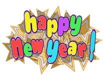 De gelukkige Sterren van het Nieuwjaar Royalty-vrije Stock Foto