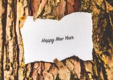 De gelukkige Tekst van het Nieuwjaar Royalty-vrije Stock Afbeelding