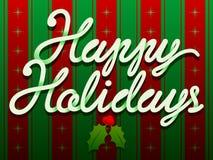 De gelukkige Tekst van Kerstmis van de Vakantie Stock Afbeeldingen