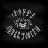 De gelukkige typografische achtergrond van Halloween op bord Royalty-vrije Stock Afbeeldingen
