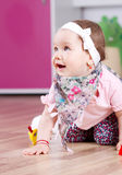 De gelukkige uitdrukking van het babymeisje Royalty-vrije Stock Fotografie