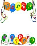 De gelukkige uitnodiging van de Ballons van de Verjaardag Stock Foto
