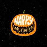 De gelukkige uitstekende banner van Halloween met typografie Stock Foto's