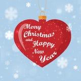 De Gelukkige Vakantie van de groetkaart met hartdecoratie Stock Afbeelding