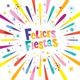 De Gelukkige Vakantie van Felicesfiesta's in het Spaans stock illustratie