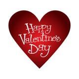 De gelukkige Valentijnskaartendag handrwritten vector illustratie
