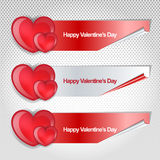 De gelukkige valentijnskaartendag modren banner Stock Foto's