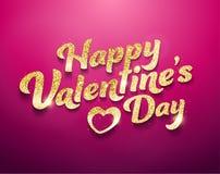 De gelukkige Valentine's-Dag, schittert effect royalty-vrije illustratie