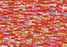 De gelukkige Valentine Day-abstracte achtergrond van de tekstkleur Stock Afbeeldingen