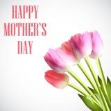 De gelukkige van de de Affichekaart van de Moeder` s Dag Vectorillustratie Royalty-vrije Stock Foto's