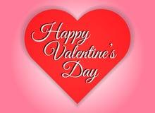 De gelukkige van de het hartvorm van de valentijnskaartendag rode abstracte achtergrond Royalty-vrije Stock Foto's
