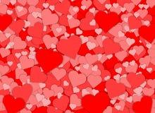 De gelukkige van de het hartvorm van de valentijnskaartendag rode abstracte achtergrond Stock Foto