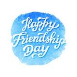De gelukkige van letters voorziende tekst van de Vriendschapsdag Royalty-vrije Stock Fotografie