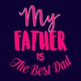 De gelukkige vector van letters voorziende achtergrond van de Vader` s dag Gelukkige de kalligrafie lichte banner van de Vadersda royalty-vrije illustratie