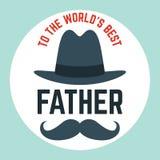 De gelukkige vector van letters voorziende achtergrond van de Vader` s dag Gelukkige de kalligrafie lichte banner van de Vadersda stock fotografie