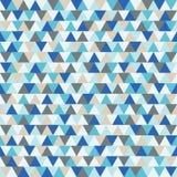 De gelukkige vectorachtergrond van de Nieuwjaardriehoek, het blauwe en grijze geometrische patroon van de de wintervakantie Royalty-vrije Stock Afbeeldingen