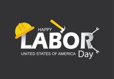 De gelukkige vectorillustratie van de Dag van de Arbeidbanner royalty-vrije stock fotografie