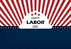 De gelukkige vectorillustratie van de Dag van de Arbeidbanner stock afbeelding
