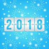2018 de Gelukkige vectorillustratie van het Nieuwjaarscorebord Royalty-vrije Stock Afbeelding