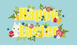 De gelukkige Vectorillustratie van Pasen stock illustratie