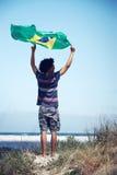De gelukkige verdediger van Brazilië Royalty-vrije Stock Afbeeldingen