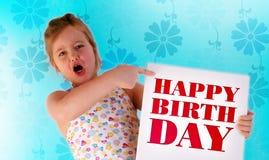 De gelukkige verjaardag Stock Foto's