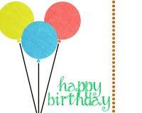 De gelukkige Verjaardag nodigt Plakboeklay-out uit Royalty-vrije Stock Afbeelding