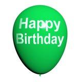 De gelukkige Verjaardagsballon toont Vrolijke Festiviteiten vector illustratie