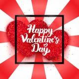 De gelukkige Verkoop Ð ¡ van de Valentijnskaartendag ard Royalty-vrije Stock Foto's