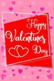 De gelukkige verticale kleurrijke affiche van de valentijnskaarts dag, kader, harten Stock Afbeelding