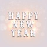 De gelukkige viering van het Nieuwjaar Stock Foto