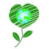 De gelukkige de Vriendschap en het milieudag van de conceptenaarde van de werelddag, Aardebehoud, Hart van Aard - Vector royalty-vrije illustratie