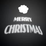 De gelukkige Vrolijke Kerstmisachtergrond royalty-vrije illustratie