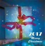 De gelukkige Vrolijke Kerstmisachtergrond stock illustratie