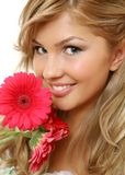 De gelukkige vrouw Stock Fotografie