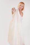 De gelukkige Vrouw van de Blonde stock afbeeldingen