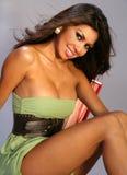 De gelukkige Vrouw van Latina royalty-vrije stock foto's