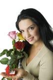 De gelukkige vrouwen met diamant bellen Royalty-vrije Stock Foto's