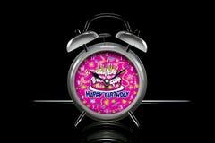 De gelukkige Wekker van de Verjaardag Royalty-vrije Stock Afbeelding