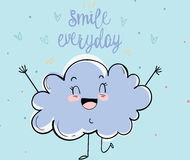 De gelukkige wolk royalty-vrije stock foto