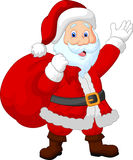 De gelukkige zak van de Kerstmanheks Royalty-vrije Stock Foto's