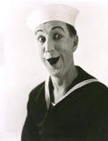 De gelukkige zeeman stock foto