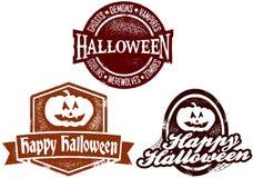 De gelukkige Zegels van Halloween Royalty-vrije Stock Foto's