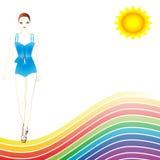 De gelukkige zomer Royalty-vrije Stock Afbeelding
