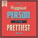 De Gelukkigste Persoon is Prettiest Stock Afbeelding