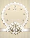 De Gelukwens of de Uitnodiging van het huwelijk met wit r Stock Foto's