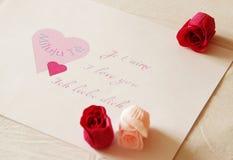 De gelukwens van de valentijnskaart Stock Afbeelding